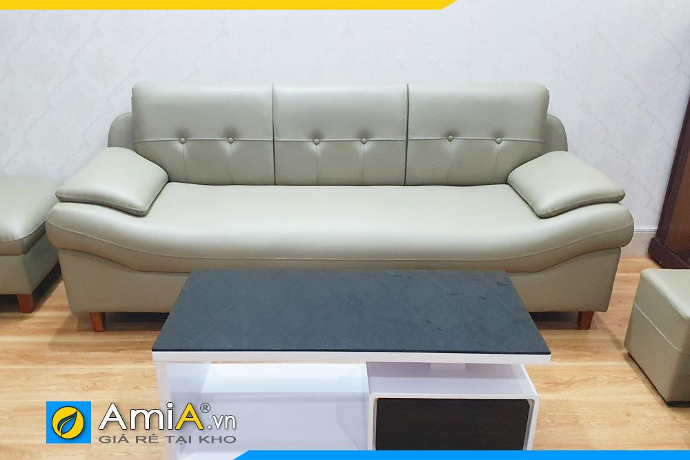 sofa văng chất liệu da công nghiệp giá rẻ