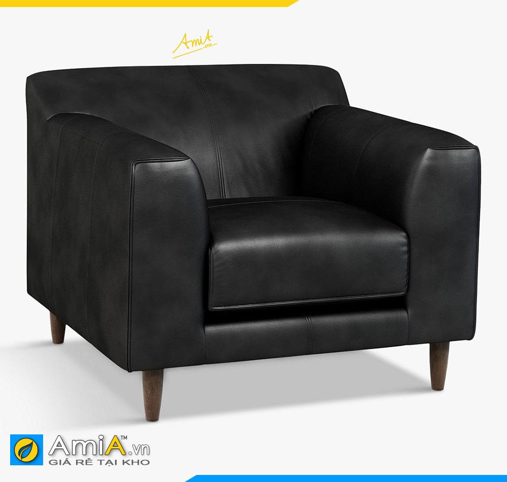 sofa văng bọc da màu đen đẹp