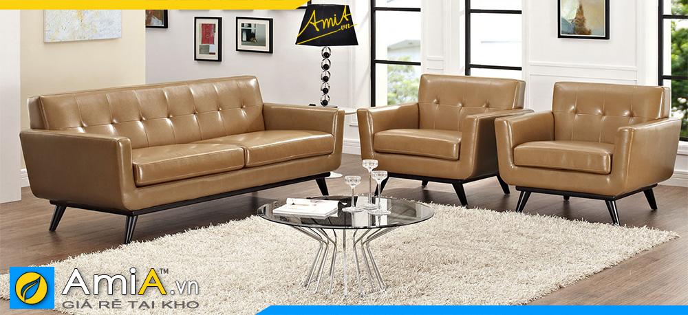 sofa văng bọc da công nghiệp đẹp cho phòng khách nhà bạn