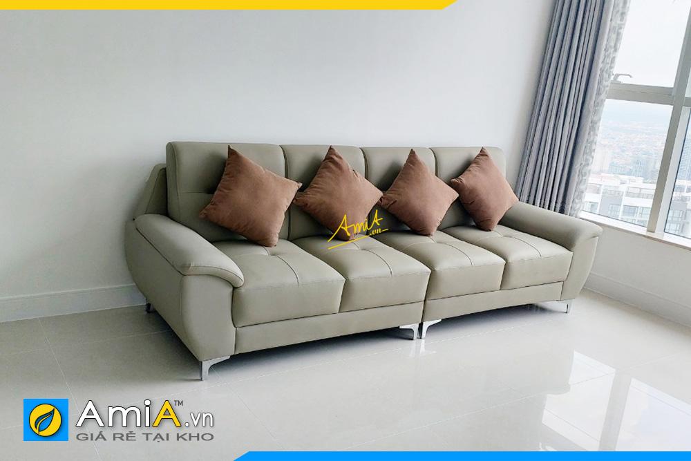 Hình ảnh Sofa văng dài 4 chỗ đẹp hiện đại kê sát tường