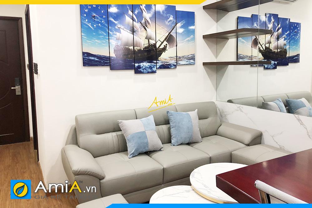 Hình ảnh Sofa văng đẹp 3 chỗ kê phòng khách chung cư nhỏ xinh