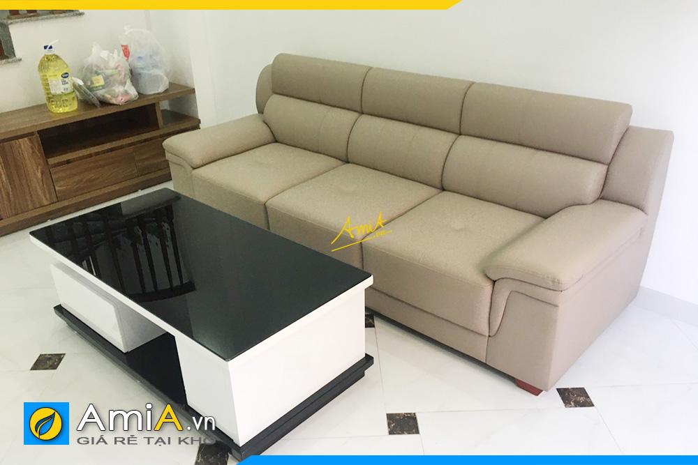 Hình ảnh Sofa văng đẹp chất liệu da thiết kế 3 chỗ đẹp