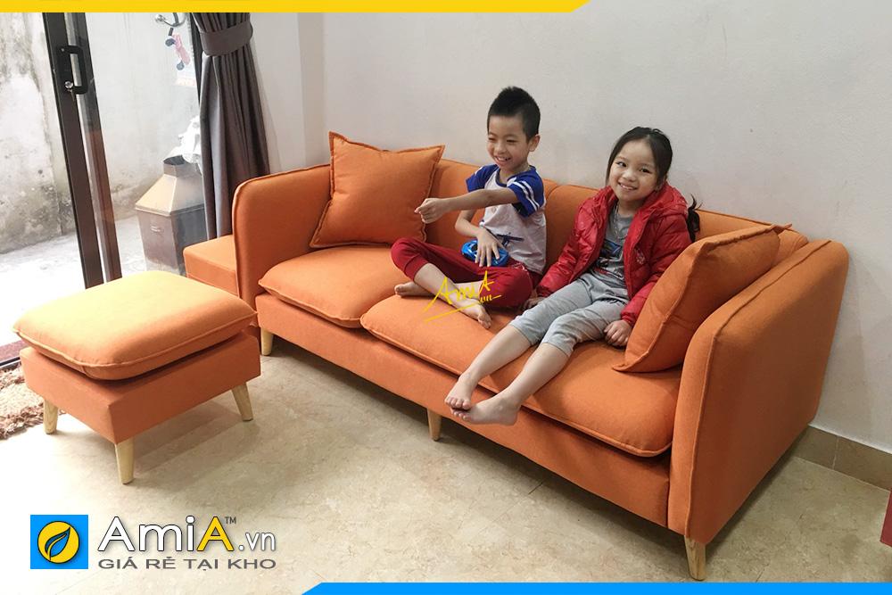 Hình ảnh Sofa văng đẹp Hà Nội hiện đại giá rẻ chất liệu nỉ