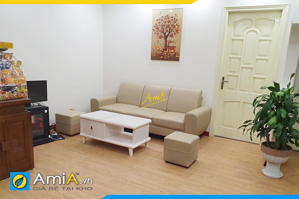 Hình ảnh Sofa văng đẹp thiết kế 3 chỗ ngồi hiện đại giá rẻ tại Hà Nội