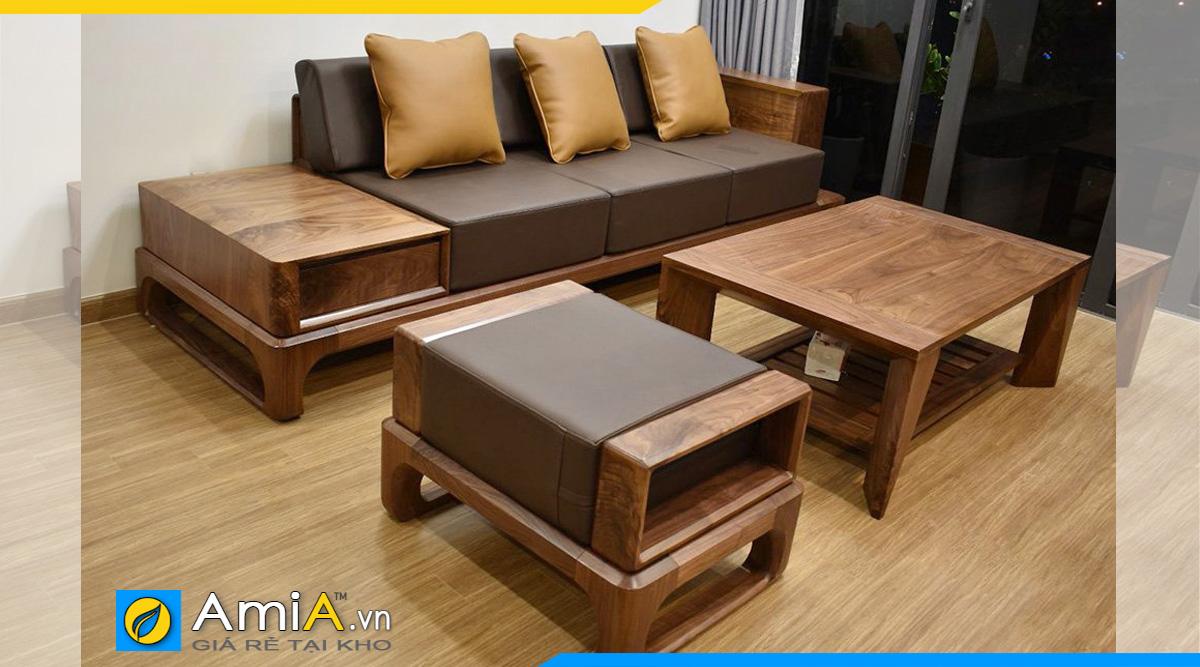 Sofa gỗ văng phòng khách đẹp