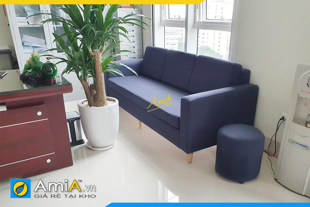Hình ảnh Sofa văng nỉ 3 chỗ kê văn phòng đẹp hiện đại
