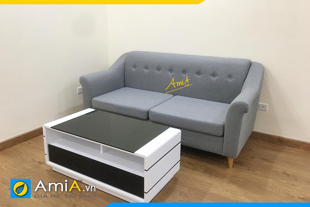 hình ảnh sofa văng nỉ màu xanh