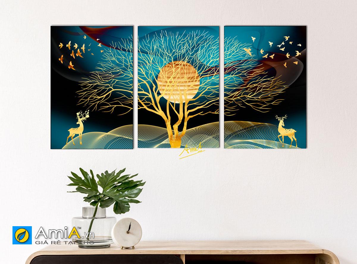 Hình ảnh Bộ tranh cây đời treo tường mong muốn sức khỏe dồi dào