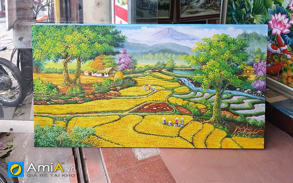 Hình ảnh Tranh đồng quê Việt Nam vẽ sơn dầu cỡ lớn tại AmiA