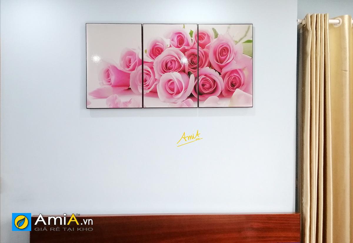 Hình ảnh Tranh hoa hồng tình yêu treo tường đẹp về tình duyên hôn nhân