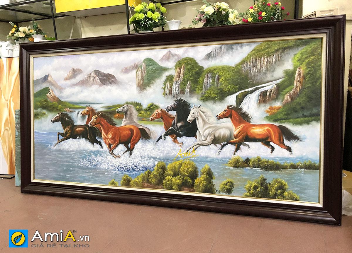 Hình ảnh Tranh khổ lớn chủ đề mã đáo thành công vẽ sơn dầu treo phòng làm việc 1815