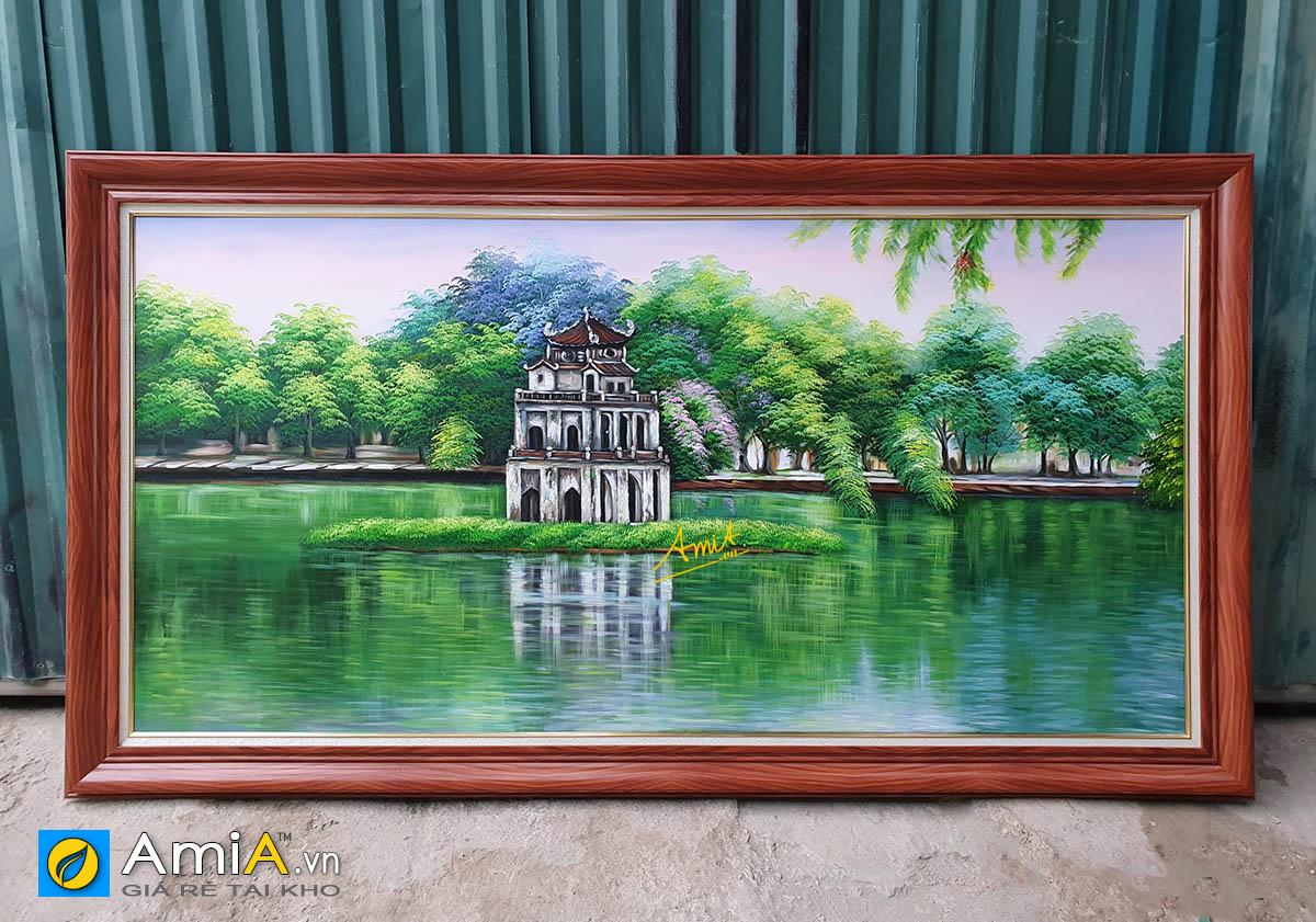 Hình ảnh Tranh phong cảnh Hồ Gươm vẽ sơn dầu khổ lớn tại AmiA TSD 556