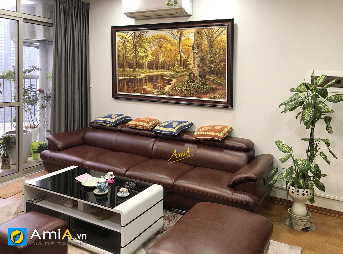 Hình ảnh Tranh rừng cây treo tường khổ lớn in ép gỗ cho phòng khách