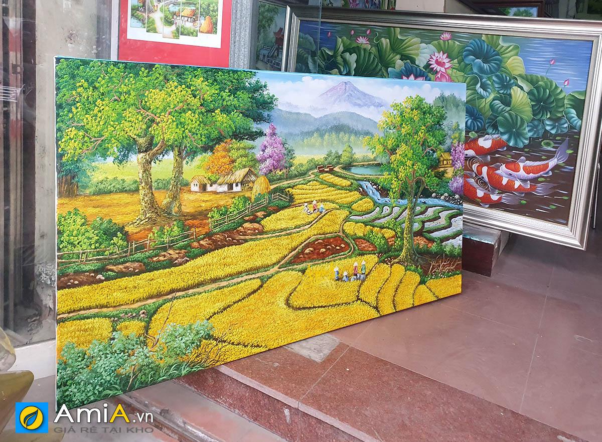 Hình ảnh Tranh sơn dầu cỡ lớn chủ đề đồng quê Việt Nam