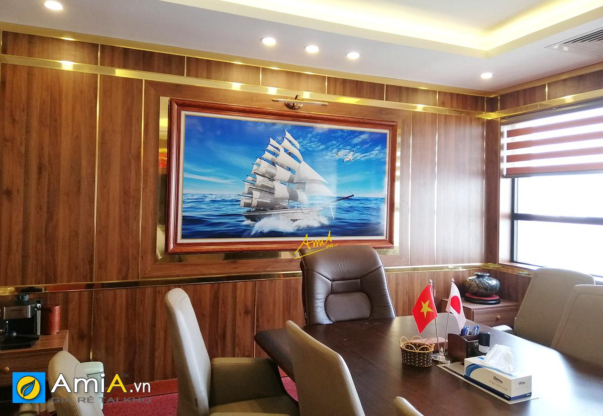 Hình ảnh Tranh thuyền buồm cỡ lớn treo văn phòng làm việc mã 1892