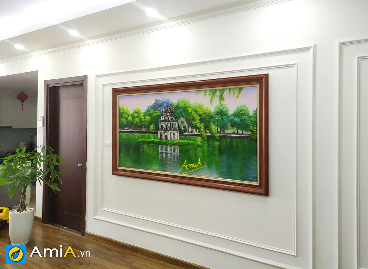 Hình ảnh Tranh treo nhà biệt thự đẹp sang trọng chủ đề Hà Nội TSD 556