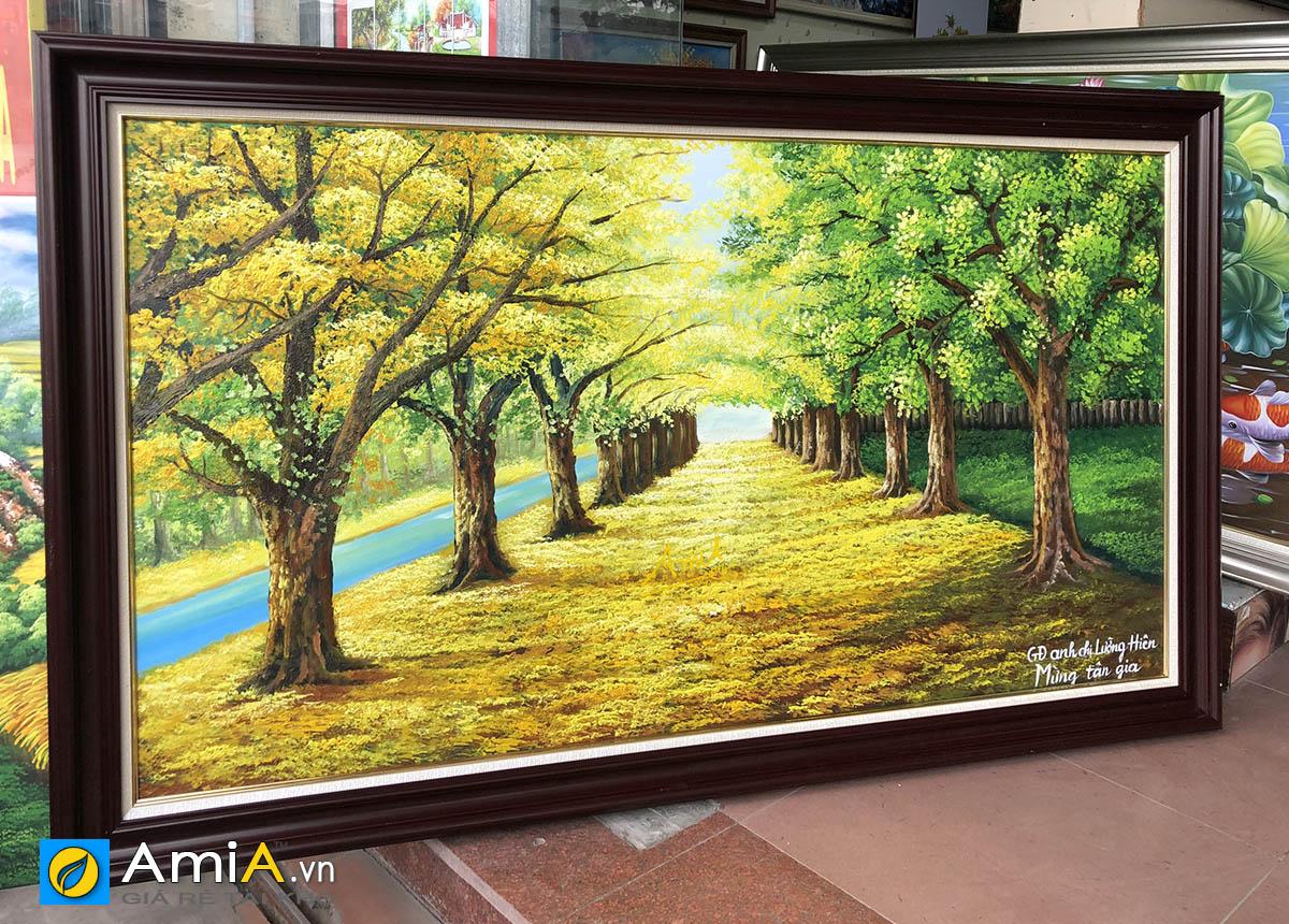 Hình ảnh Tranh vẽ sơn dầu kích thước lớn làm quà tân gia nhà mới mã TSD 383