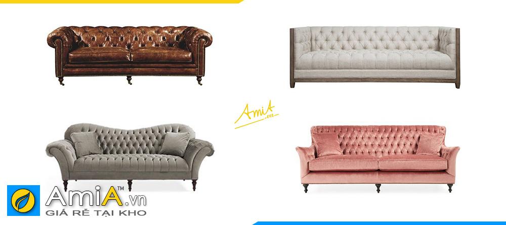 những mẫu sofa văng đẹp giá rẻ cho quán cafe kiểu dáng tân cổ điển sang chảnh