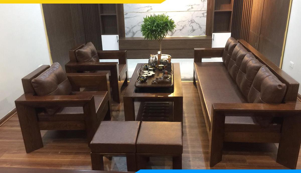 Bộ sofa gỗ luôn sáng bóng và đẹp nếu được vệ sinh thường xuyên