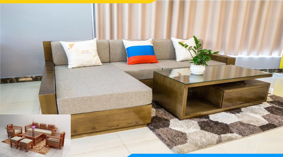 lưu ý khi dừng sofa gỗ và Vị trí kê của sofa gỗ hợp lí trong không gian kê