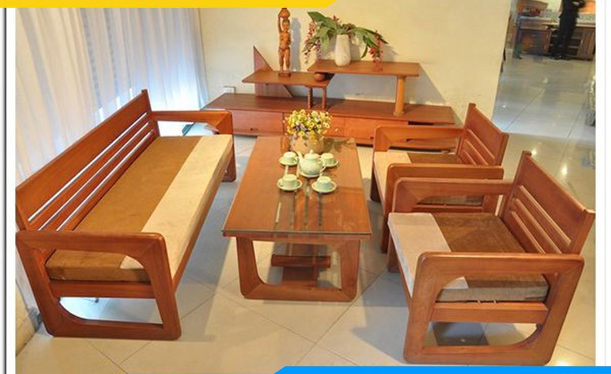 Bàn ghế gỗ dưới 10 triệu dành cho phòng khách