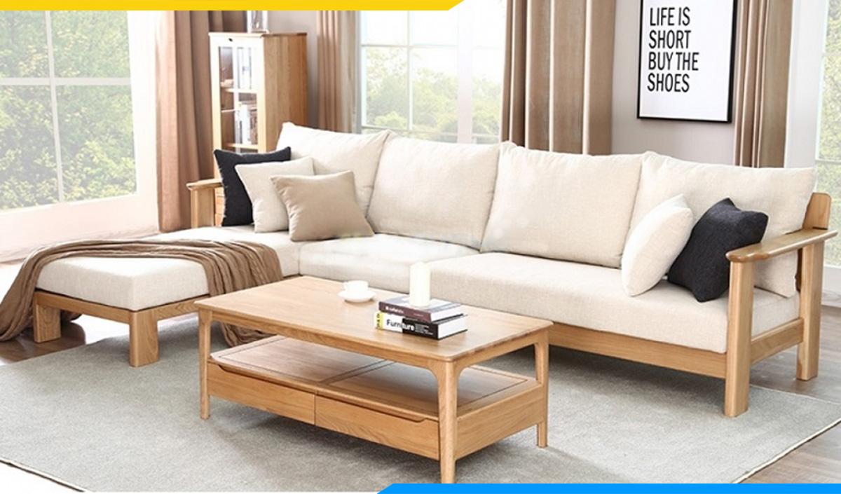 Bàn ghế gỗ phòng khách dưới 10 triệu đẹp