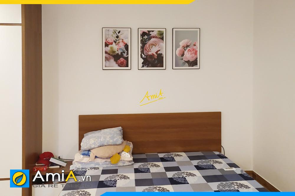 Hình ảnh Bộ tranh hoa đẹp nghệ thuật treo tường phòng ngủ AmiA 1677