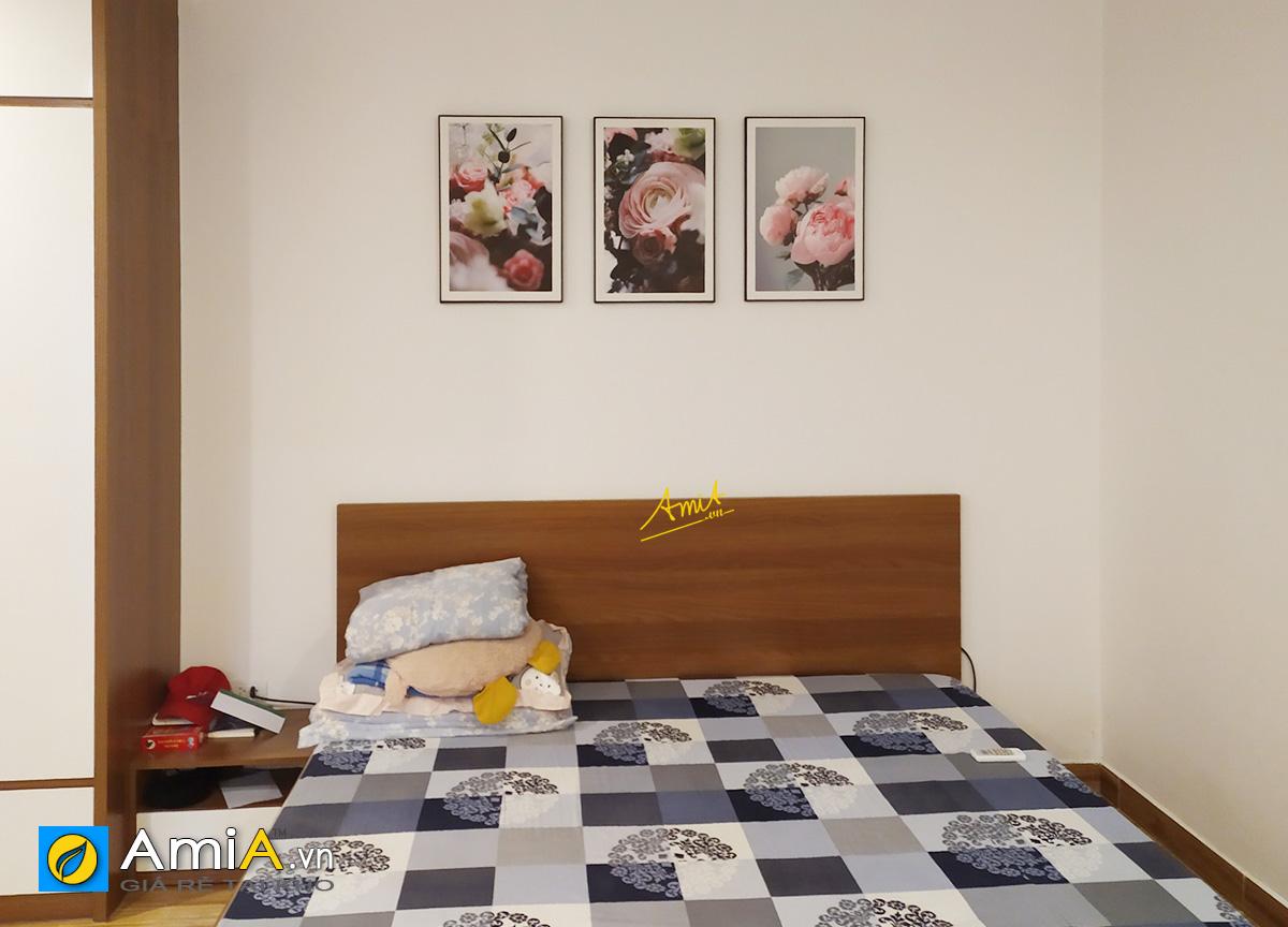 Hình ảnh Bộ tranh hoa mẫu đơn đẹp trang trí phòng ngủ hiện đại mã 1677