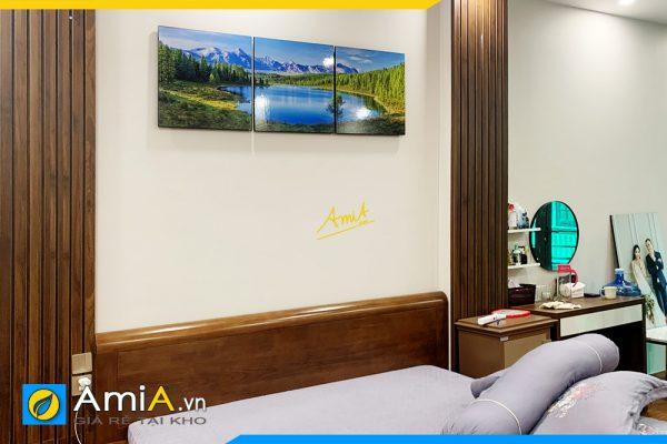 Hình ảnh Bộ tranh phong cảnh trang trí tường phòng ngủ đẹp