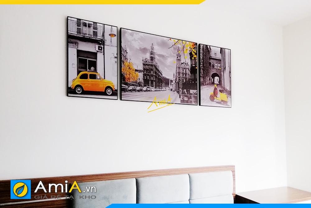 Hình ảnh Bộ tranh treo tường phòng ngủ đẹp phong cảnh nước ngoài AmiA 1685