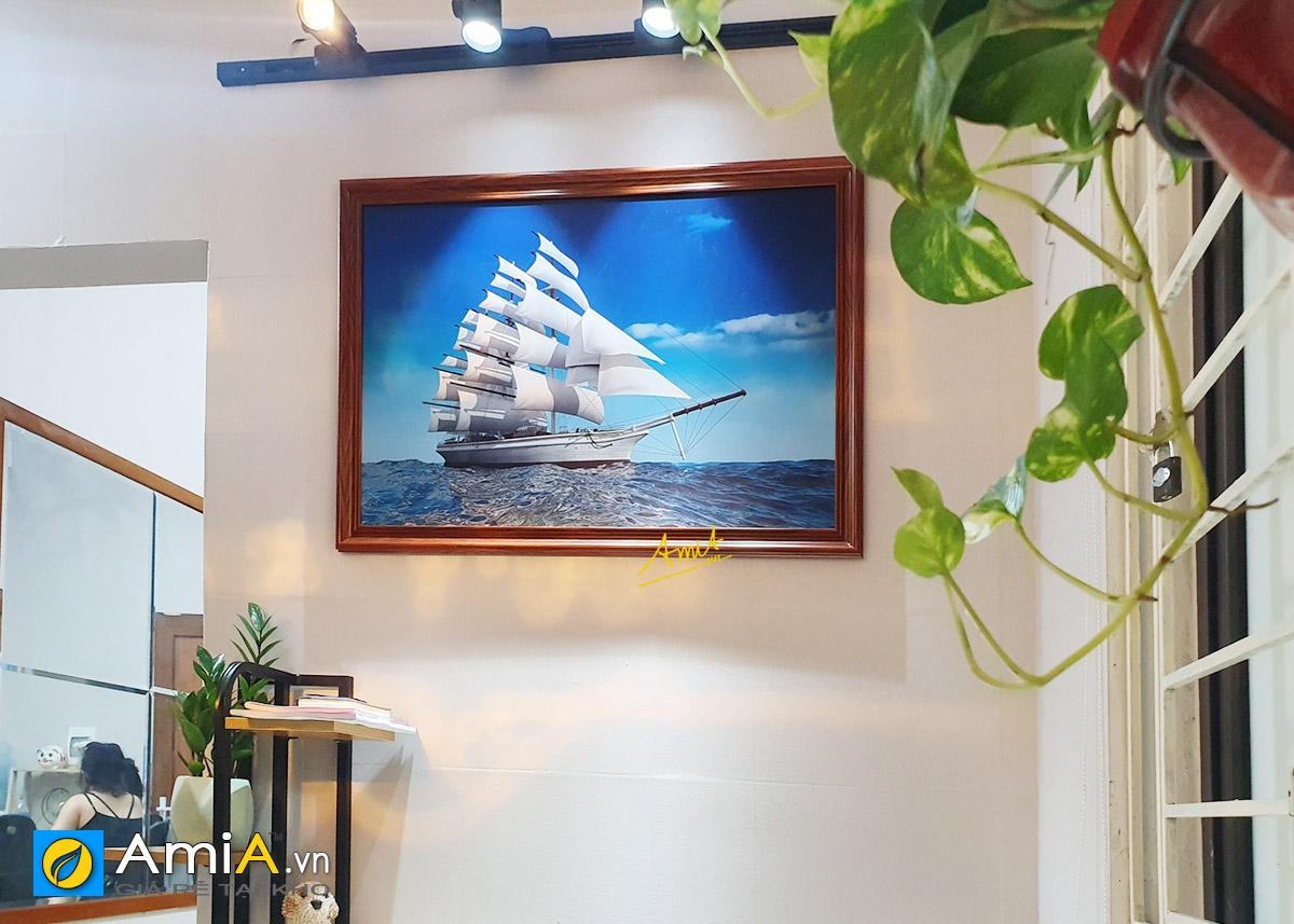 Hình ảnh Bức tranh treo tường thuận buồm xuôi gió 1 tấm đẹp mã 330