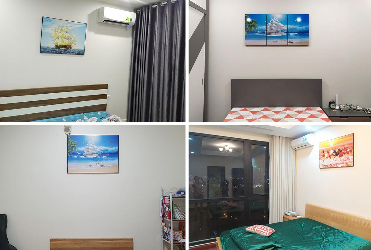 Hình ảnh Các mẫu tranh đẹp ý nghĩa phong thủy treo tường phòng ngủ hiện đại