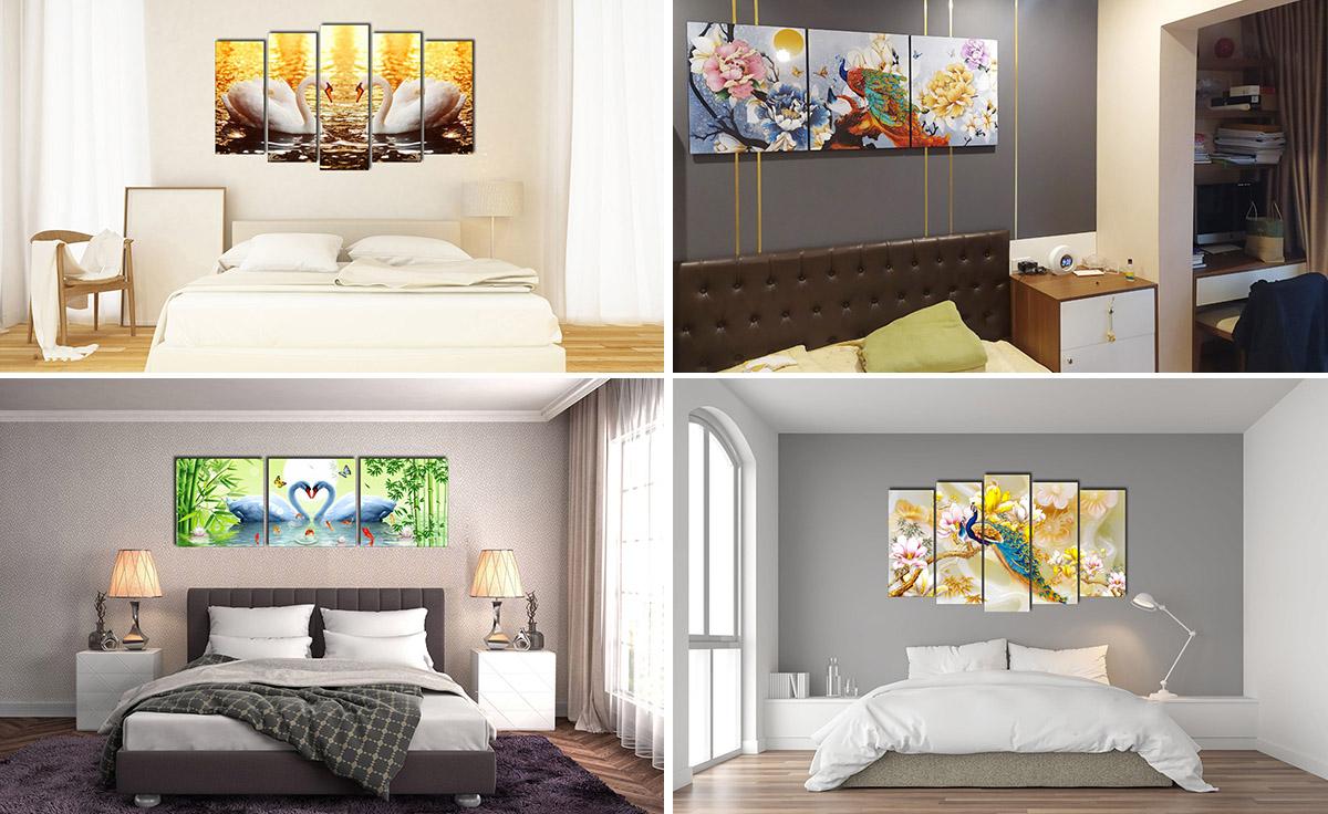 Hình ảnh Các mẫu tranh phòng ngủ đẹp hiện đại và ý nghĩa