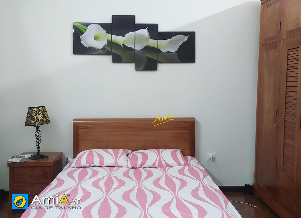 Hình ảnh Mẫu tranh hoa rum treo tường phòng ngủ đẹp mã 243