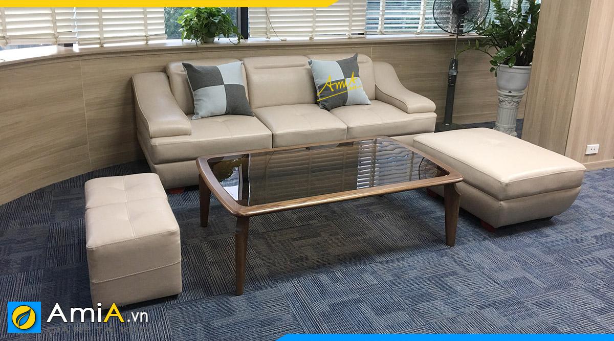 các mẫu ghế sofa văng ba chỗ ngồi đẹp giá rẻ hiện đại phòng khách