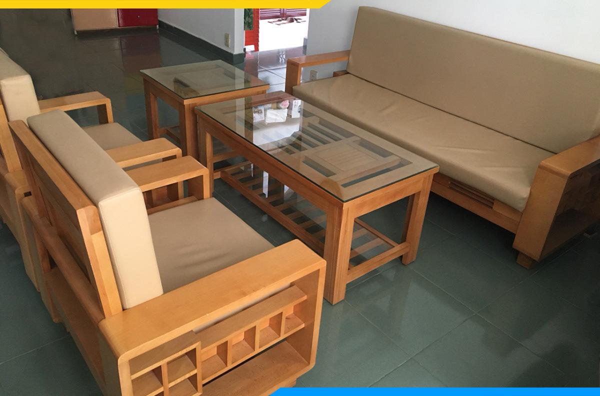 Sofa gỗ cho nhà chung cư giá rẻ, chất lượng tốt
