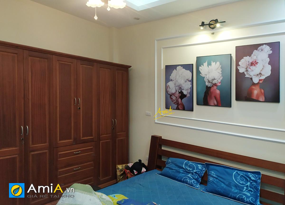 Hình ảnh Tranh cô gái nghệ thuật treo tường phòng ngủ đẹp