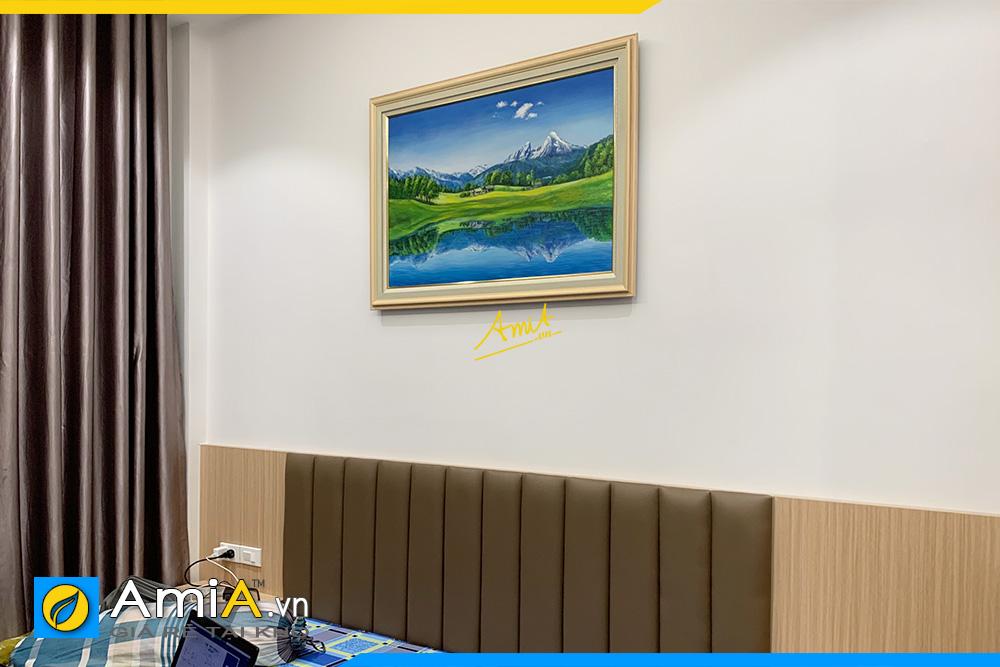 Hình ảnh Tranh hồ quang sơn sắc treo tường phòng ngủ đẹp AmiA 341