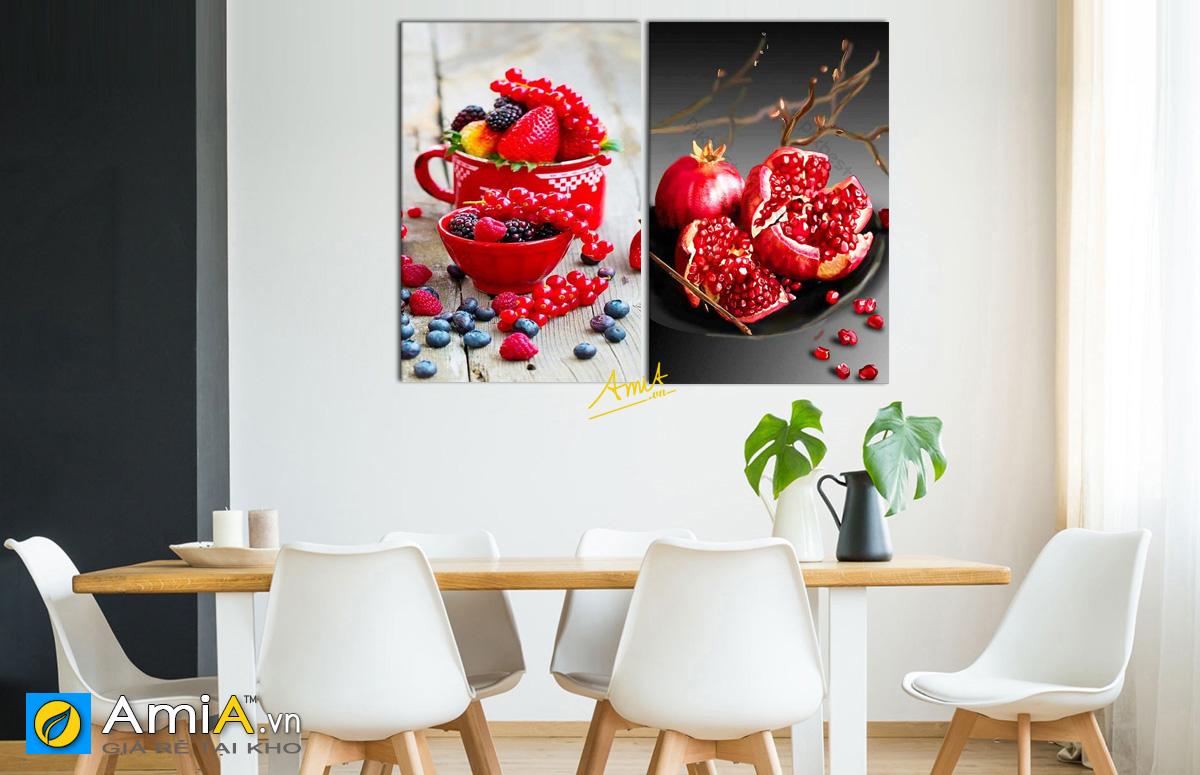 Hình ảnh Tranh phòng ăn đẹp ý nghĩa phong thủy tốt lành