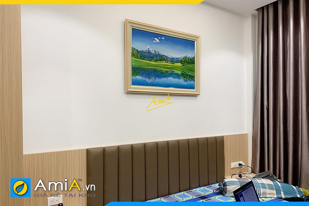 Hình ảnh Tranh phong cảnh sơn thủy đẹp ý nghĩa trang trí phòng ngủ AmiA 341