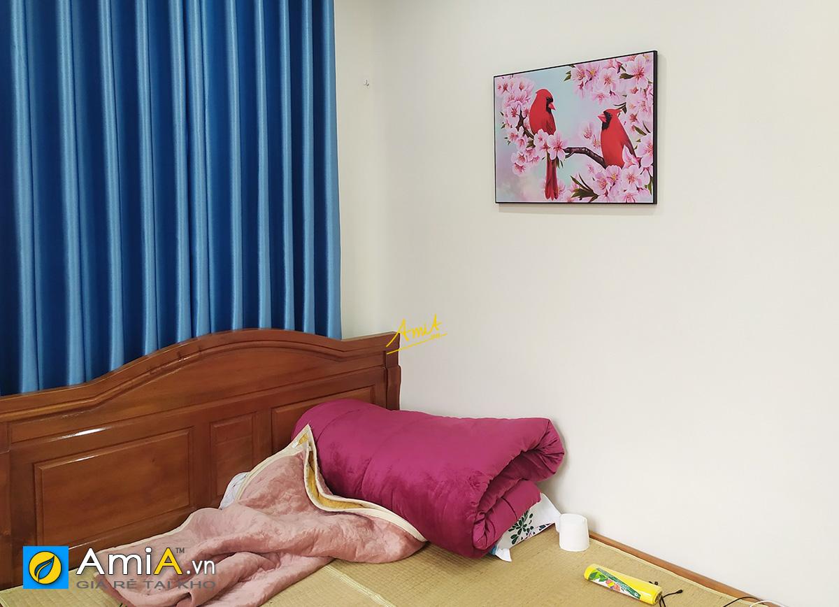 Hình ảnh Tranh phòng ngủ đôi chim treo tường lãng mạn cho vợ chồng mới cưới