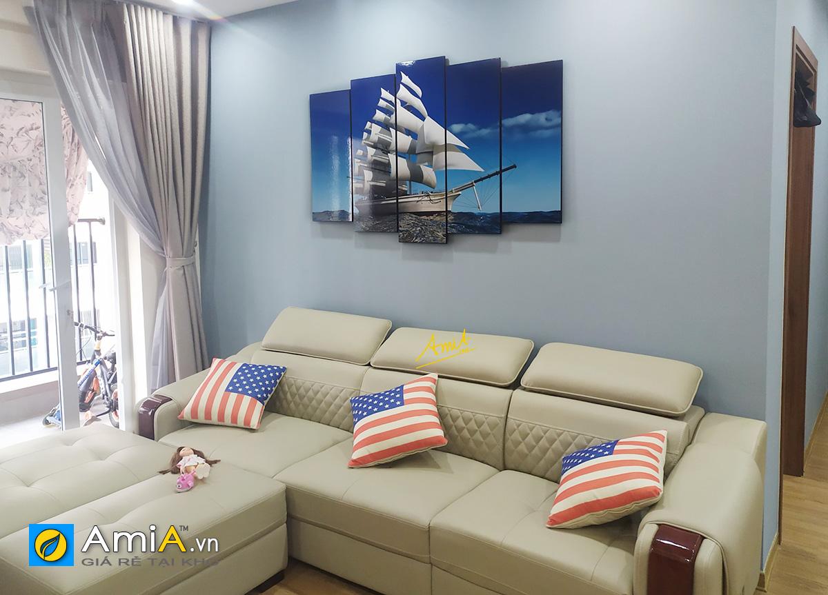 Hình ảnh Tranh thuận buồm xuôi gió mừng tân gia nhà mới đẹp mã 330
