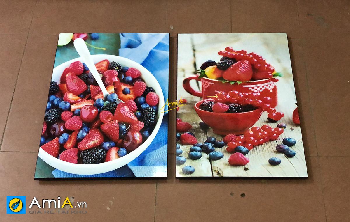 Hình ảnh Tranh treo phòng ăn đẹp chủ đề hoa quả chín mọng