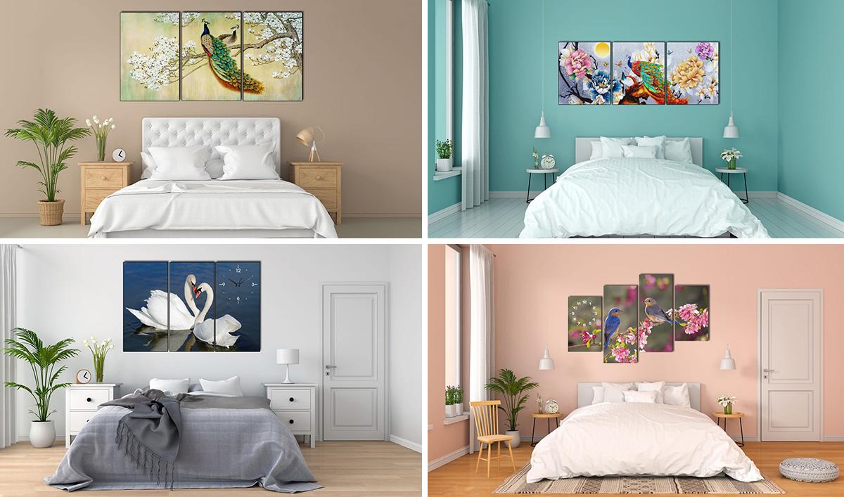 Hình ảnh Tranh treo tường phòng ngủ đẹp lãng mạn