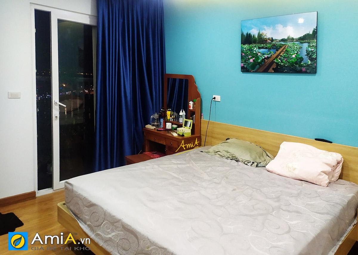 Hình ảnh Tranh treo tường phòng ngủ phong cảnh hồ sen mã 1343