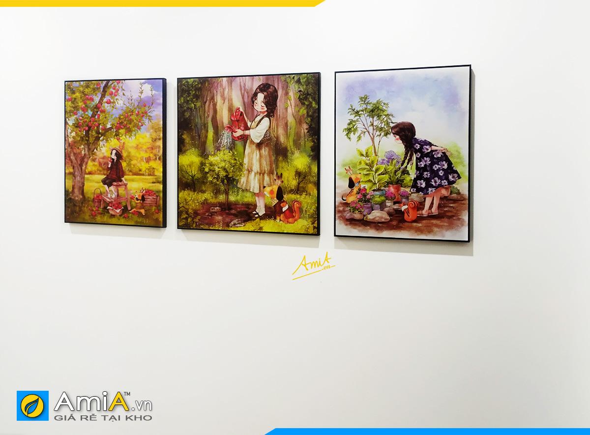 Hình ảnh Về nhà mới treo tranh gì phòng ngủ trẻ em đẹp đáng yêu