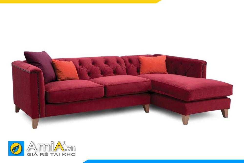 Ghế sopha tân cổ điển màu đỏ nổi bật cho nhà bạn
