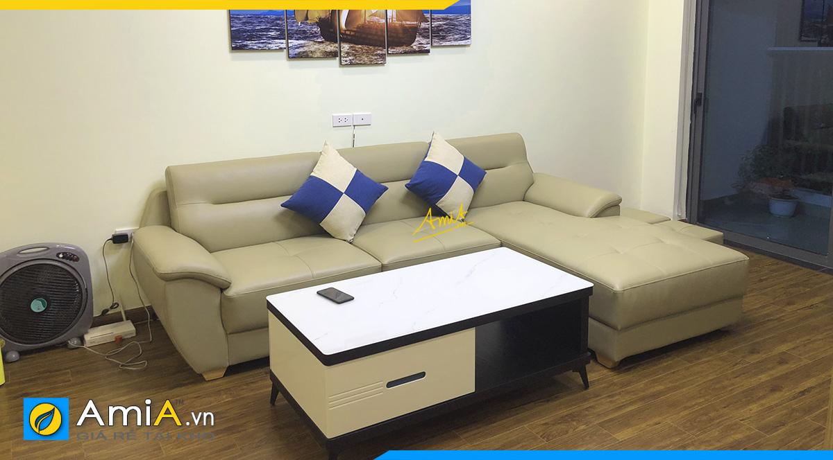 Hình ảnh chiếc ghế sopha góc nhỏ kèm bàn trà giá rẻ