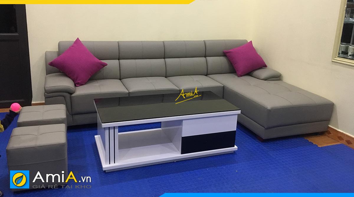 Khách hàng ở Gia Lâm đặt làm mẫu ghế sofa góc theo yêu cầu tại AmiA