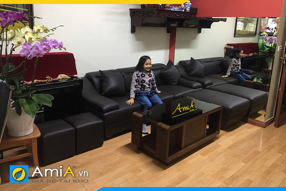 những mẫu ghế sofa văng màu đen đẹp